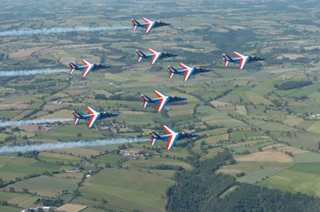 photo de la patrouille en vol